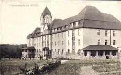 Postcard Hösel Ratingen im Kreis Mettmann, Genesungsheim, Seitenansicht