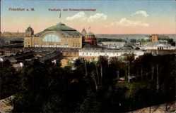 Postcard Frankfurt am Main, Festhalle mit Hohenzollernanlage, Internationale Messe