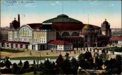 Postcard Frankfurt am Main, Gesamtansicht der Festhalle
