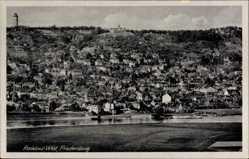 Ansichtskarte / Postkarte Radebeul West Sachsen, Blick auf den Ort und die Friedensburg