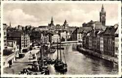 Ak Kaliningrad Königsberg Ostpreußen, Hundegatt, Kirchturm, Hafen