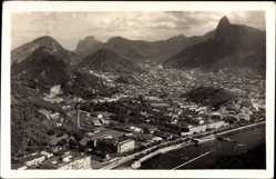 Postcard Rio de Janeiro Brasilien, Vogelschau vom Zuckerhut, Stadt, Hafen