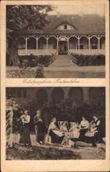 Postcard Radensleben Neuruppin, Erholungsheim, Damen Gruppenfoto im Garten