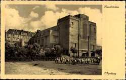 Postcard Saarbrücken im Saarland, Wartburg, Gruppe von Kindern mit Aufseherin