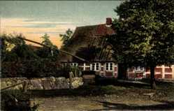 Postcard Ramelsloh Seevetal im Kreis Harburg Lüneburger Heide, Dorfpartie, Fachwerk