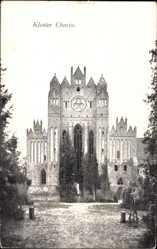 Postcard Chorin im Kreis Barnim, Ansicht vom Kloster, Vorplatz