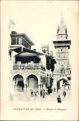 Cp Paris, Expo, Weltausstellung 1900, Bosnie et Hongrie
