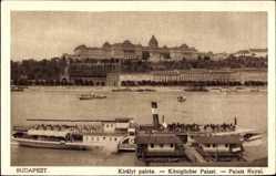 Postcard Budapest Ungarn, Kiralyi Palota, Palast, Donaudampfer Ferencz Ferdinand