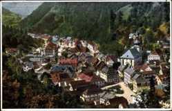 Postcard Bad Berneck im Fichtelgebirge Oberfranken, Blick auf den Ort