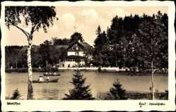 Postcard Bad Wörishofen im schwäbischen Kreis Unterallgäu, Waldsee, Restaurant