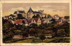 Postcard Bad Bentheim in Niedersachsen, Totalansicht der Stadt