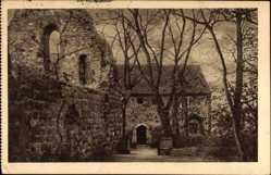 Postcard Lindow in der Mark, Ruine des im 13. Jahrhundert begründeten Nonnenklosters
