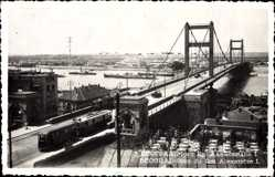 Postcard Belgrad Beograd Serbien, Pont du Roi Alexandre I., Straßenbahn, Brücke