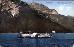 Postcard Achensee Tirol Österreich, Dampferpartie, Salondampfer, Berg