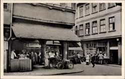 Postcard Frankfurt am Main, Die Schirn, Metzgerei Albert Heim