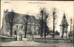 Postcard Hittfeld Seevetal im Kreis Harburg, Über 1000 Jahre alte Kirche