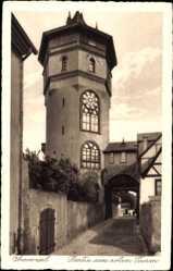 Postcard Oberwesel im Rhein Hunsrück Kreis, Partie am roten Turm