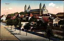 Postcard Speyer am Oberrhein Rheinland Pfalz, Teilansicht mit Dom