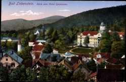 Postcard Bad Liebenstein im Wartburgkreis, Blick vom Hotel Quisisana