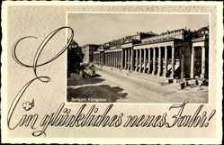 Postcard Stuttgart in Baden Württemberg, Blick auf den Königsbau, Neujahr