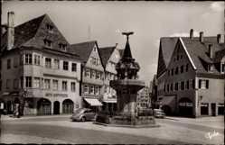 Postcard Nördlingen im Nördlinger Ries Schwaben, Ansicht Kriegerbrunnen,Auto Schweizer