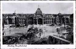 Postcard Nürnberg in Mittelfranken Bayern, Blick auf den Hauptbahnhof, Vorderansicht