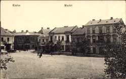 Postcard Kielce Polen, Marktplatz, Rynek, Apteka, Apotheke