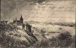 Ak Grudziądz Graudenz Westpreußen, Blick v.d. Weichsel aus
