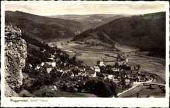 Postcard Muggendorf Wiesenttal im Kreis Forchheim Oberfranken,Ort, Fliegeraufnahme