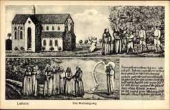 Künstler Ak Kloster Lehnin in Brandenburg, Die Weissagung, Geistliche