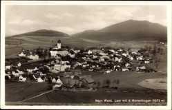 Postcard Lam im Bayerischen Wald Oberpfalz, Blick auf den Ort mit dem Hohenbogen