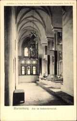Ak Malbork Marienburg Westpreußen, Flur im Hochmeisterpalast