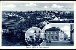 Postcard Mamer Luxemburg, G.D. de Luxembourg, Straßenpartie, Kirche, Totalansicht