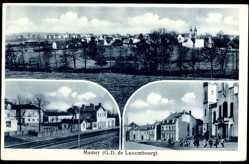 Postcard Mamer Luxemburg, G.D. de Luxembourg, Straßenpartie, Bahnhof