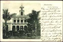 Postcard Montevideo Uruguay, Quinta Eastman, Villa mit Palmengarten