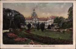 Postcard Hanau im Main Kinzig Kreis Hessen, Schloss Philippsruhe mit Park
