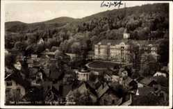 Postcard Bad Liebenstein im Wartburgkreis, Blick vom Aschenberg auf die Stadt