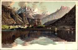 Künstler Litho Kämmerer, Rob., Norge Norwegen, Romsdalhorn, Ort, Gebirge