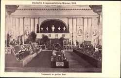 Postcard Hansestadt Bremen, Deutsche Kriegsausstellung 1916, Großer Saal