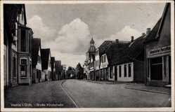Postcard Vechta in Niedersachsen, Blick in die große Kirchstraße, Porzellanmanufaktur