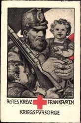 Künstler Ak Landgrebe, H., Frankfurt am Main, Rotes Kreuz, Kriegsfürsorge