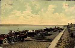 Postcard Drobeta Turnu Severin Rumänien, Portul, Blick in den Hafen