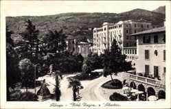 Postcard Abbazia Kroatien, Hotel Regina e Hotel Atlantica