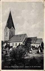 Postcard Hattstedt Kreis Husum, Kirche erbaut im 12. Jahrhundert