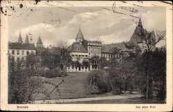 Postcard Hansestadt Bremen, Am alten Wall, Parkanlage, Häuser