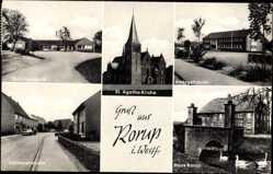 Postcard Rorup Dülmen Westfalen, Dülmenerstr, St. Agata Kirche, Haus Rorup