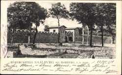 Postcard Bad Homburg vor der Höhe, Römerkastell Saalburg, Mauer