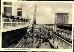 Postcard Bremerhaven Niedersachsen, Partie am neuen Columbushafen, Dampfer