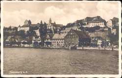 Postcard Meersburg im Bodenseekreis Baden Württemberg, Wasserblick zum Ort
