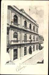 Postcard Montevideo Uruguay, Casa de Correos y Telegrafos, Straßenpartie